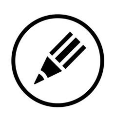 pencil icon - iconic design vector image