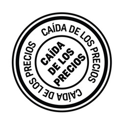 Price drop stamp in spanish vector