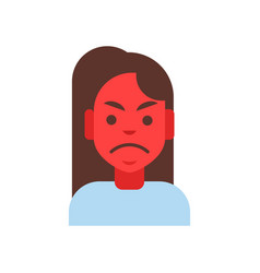 Profile icon female emotion avatar woman cartoon vector