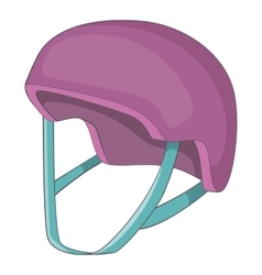 Protective helmet icon cartoon style vector