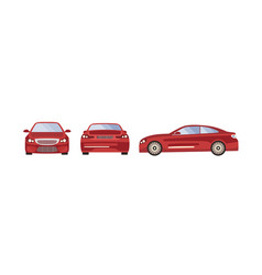 red sport car set three vector image