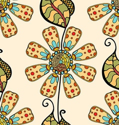 Retro Beige Floral Pattern vector