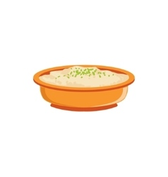 Rice Pudding In Bowl Supplemental Baby Food vector