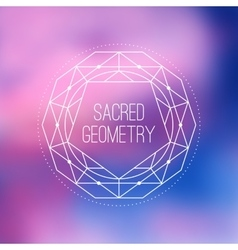 Sacred geometry sign Flower of life symbol vector image