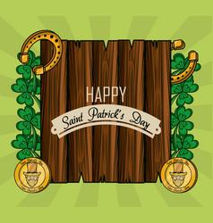 saint patricks day cartoons card vector image
