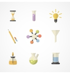 Science and research icons Flat designPart II vector image