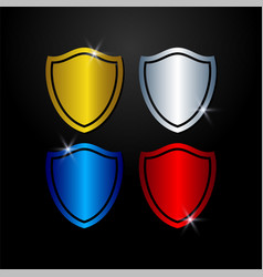 shield guard protection and safety symbol vector image