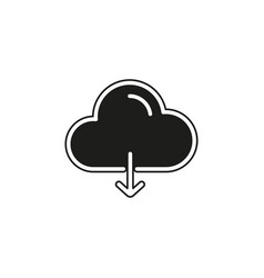 simple cloud download icon vector image