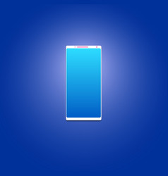 smartphone without frames big screen on a blue vector image