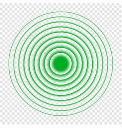 sonar search sound wave icon vector image