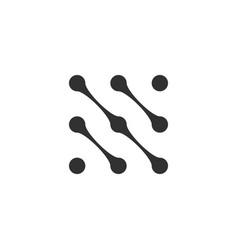 square molecule logo design element connected vector image