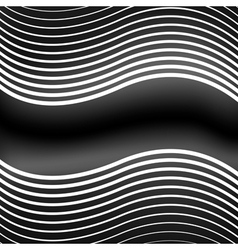 striped waves vector image