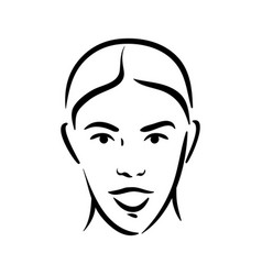 Surprise exited emotion woman face icon on white vector
