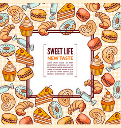 Sweet foods colorful vector