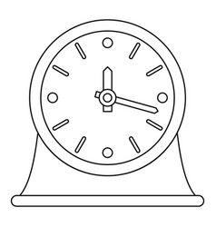 table clock icon outline style vector image