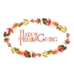 thanksgiving wreath graphic vector image
