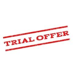 Trial Offer Watermark Stamp vector image