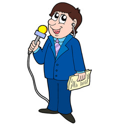 Tv reporter vector