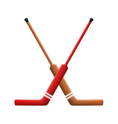 Two crossed hockey sticks for goalies vector