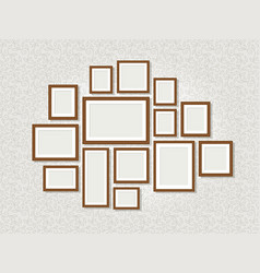 wall photo frames vector image