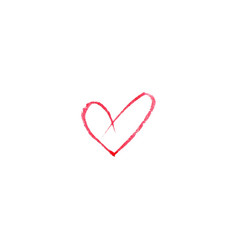 watercolor heart on white background sketch vector image