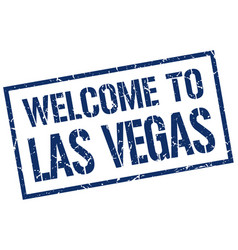 Welcome to las vegas stamp vector