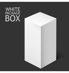 White Package Box Mockup Template vector image