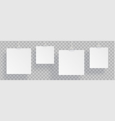 white realistic blank isolated on vector image