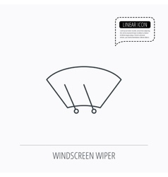 Windscreen wipers icon Windshield sign vector image