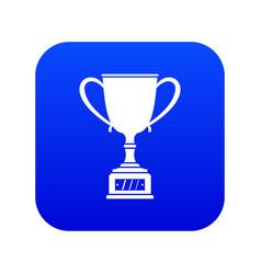 winner cup icon digital blue vector image