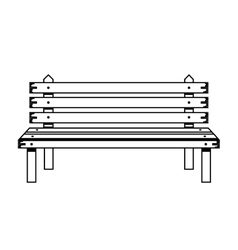 Wooden chair in park with legs vector
