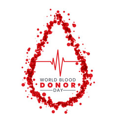 World blood donor day concept background design vector