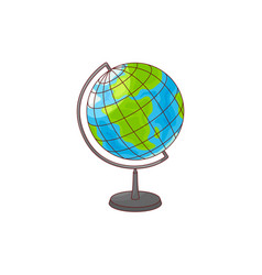 World globe map from africa and europe side vector