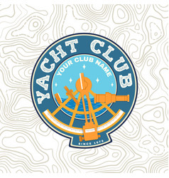 Yacht club patch concept for yachting vector