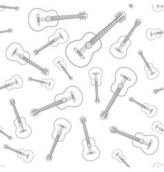acoustic guitar contour pattern vector image