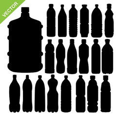 drink bottle silhouettes vector image