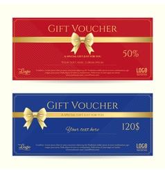 Elegant gift card or gift voucher template vector image vector image