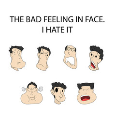 face expressionthe bad feeling - on shadow vector image vector image