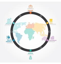 Infographics world business concept design diagram vector