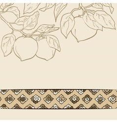 seamless pattern from orange persimmon vector image vector image