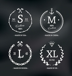 Size Emblems 1 vector image vector image