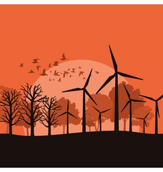 Wind power vector image vector image