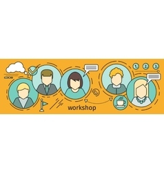 Workshop Concept In Flat Style vector image vector image