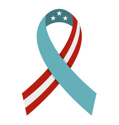 american ribbon icon isolated vector image vector image