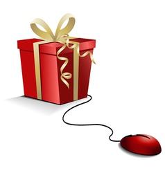 Christmas e-shopping vector image vector image