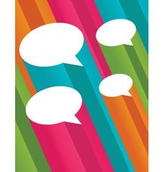 colorful 3d speech bubbles vector image vector image