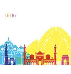delhy skyline pop vector image vector image