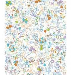 floral doodles pattern vector image vector image