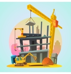 House construction cartoon vector
