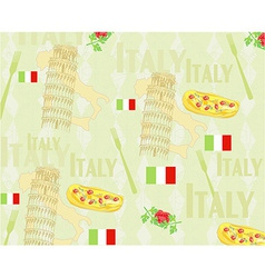 Italy travel seamless pattern with national vector image